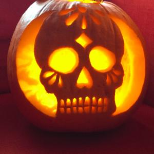 Sugar Skull Pumpkin